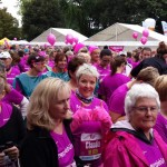 Knie-Patientin Claudia am Start des Craft Women`s Run.