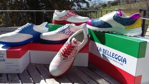 Hauptpreis: ein individuell handgefertigter Golf- und Freizeitschuh aus Bella Italia