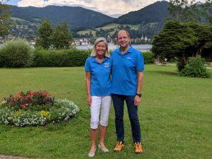 Heidi Rauch und Peter Herrchen in der Medical Park-Klinik St. Hubertus in Bad Wiessee am Tegernsee: kurz vor dem Video-Dreh